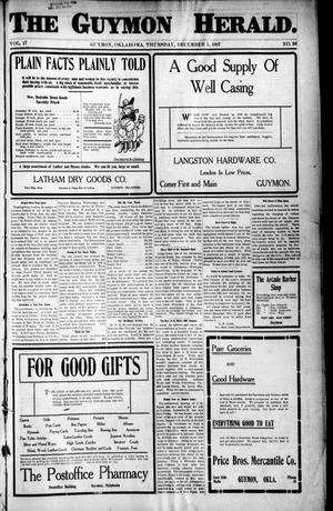 Primary view of The Guymon Herald. (Guymon, Okla.), Vol. 17, No. 38, Ed. 1 Thursday, December 5, 1907