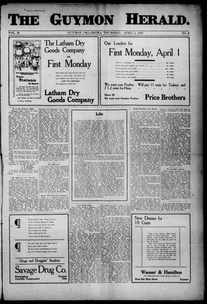 Primary view of The Guymon Herald. (Guymon, Okla.), Vol. 19, No. 3, Ed. 1 Thursday, April 1, 1909