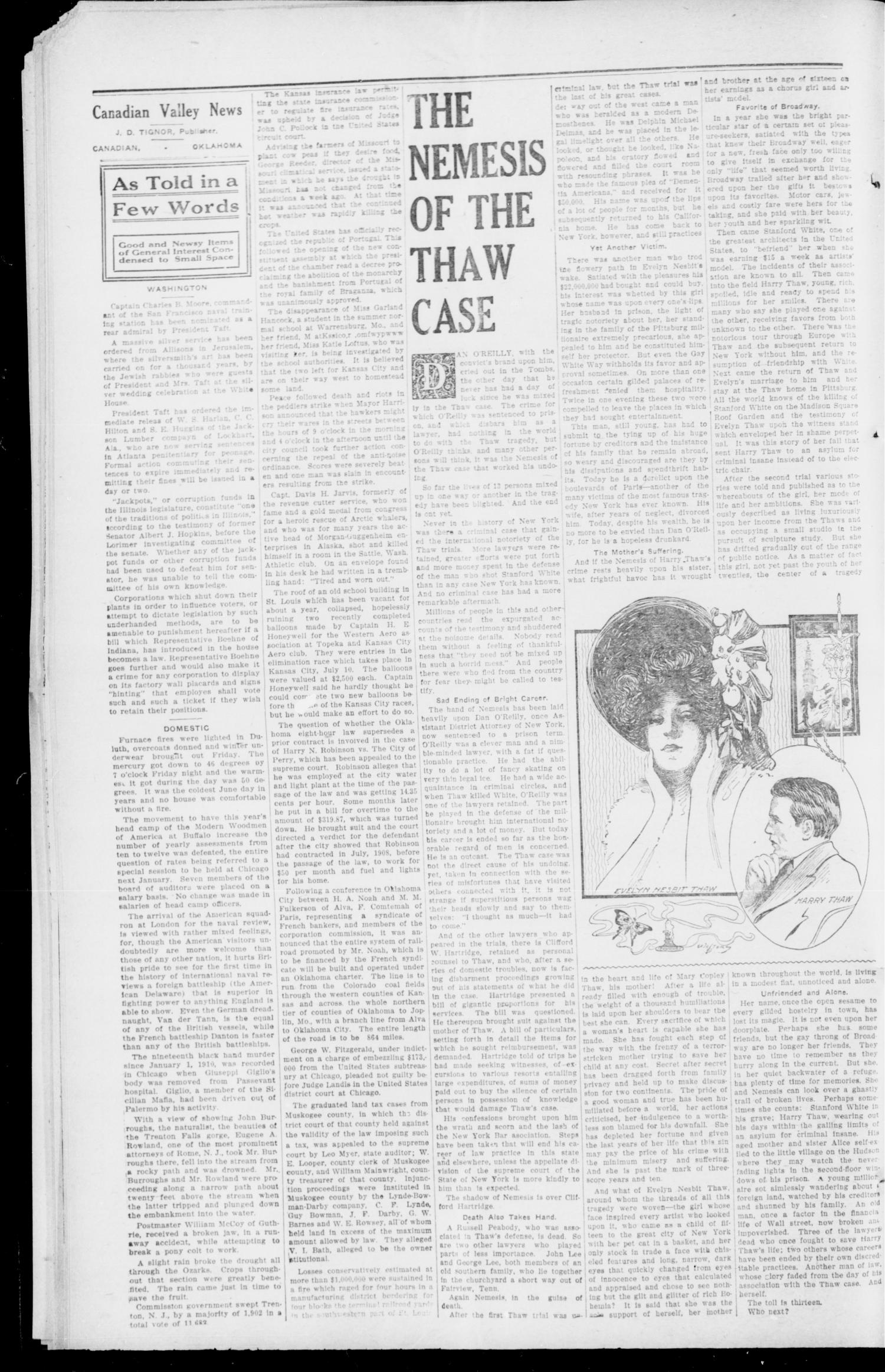 Canadian Valley News. (Canadian, Oklahoma), Vol. 1, No. 33, Ed. 1 Tuesday, June 20, 1911                                                                                                      [Sequence #]: 2 of 8