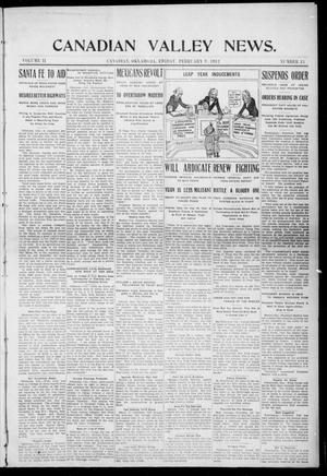 Primary view of object titled 'Canadian Valley News. (Canadian, Oklahoma), Vol. 2, No. 13, Ed. 1 Friday, February 9, 1912'.