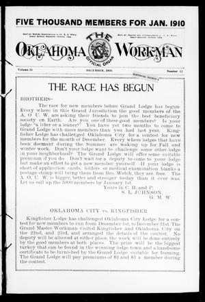 Primary view of object titled 'The Oklahoma Workman (Guthrie, Okla.), Vol. 14, No. 12, Ed. 1 Wednesday, December 1, 1909'.