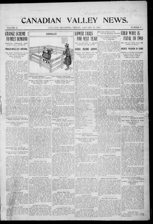 Primary view of object titled 'Canadian Valley News. (Canadian, Oklahoma), Vol. 2, No. 9, Ed. 1 Friday, January 12, 1912'.