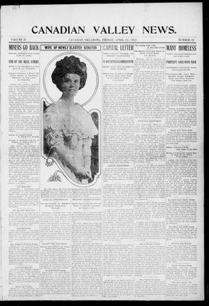 Primary view of object titled 'Canadian Valley News. (Canadian, Oklahoma), Vol. 2, No. 22, Ed. 1 Friday, April 12, 1912'.