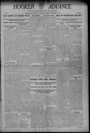 Primary view of Hooker Advance (Hooker, Okla.), Vol. 6, No. 30, Ed. 1 Friday, September 3, 1909