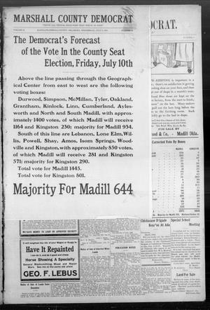 Primary view of object titled 'Marshall County Democrat. (Madill, Okla.), Vol. 2, No. 42, Ed. 1 Wednesday, July 8, 1908'.