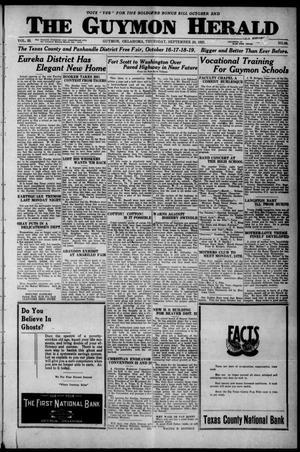 Primary view of The Guymon Herald (Guymon, Okla.), Vol. 33, No. 30, Ed. 1 Thursday, September 20, 1923