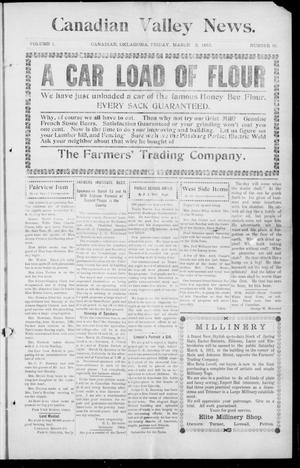 Primary view of object titled 'Canadian Valley News. (Canadian, Oklahoma), Vol. 1, No. 16, Ed. 1 Friday, March 3, 1911'.