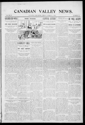 Primary view of object titled 'Canadian Valley News. (Canadian, Oklahoma), Vol. 2, No. 16, Ed. 1 Friday, March 1, 1912'.