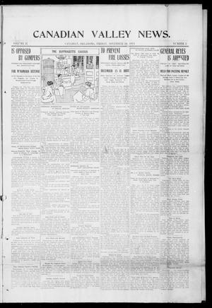 Primary view of object titled 'Canadian Valley News. (Canadian, Oklahoma), Vol. 2, No. 2, Ed. 1 Friday, November 24, 1911'.