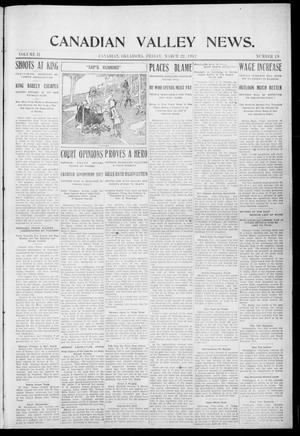 Primary view of object titled 'Canadian Valley News. (Canadian, Oklahoma), Vol. 2, No. 19, Ed. 1 Friday, March 22, 1912'.