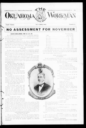 Primary view of object titled 'The Oklahoma Workman (Guthrie, Okla.), Vol. 10, No. 15, Ed. 1 Wednesday, November 2, 1904'.