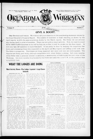 Primary view of object titled 'The Oklahoma Workman (Guthrie, Okla.), Vol. 17, No. 6, Ed. 1 Saturday, June 1, 1912'.
