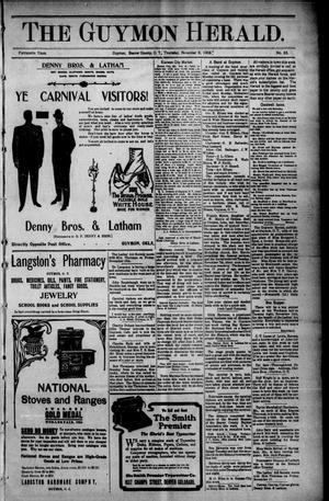 Primary view of The Guymon Herald. (Guymon, Okla. Terr.), Vol. 15, No. 33, Ed. 1 Thursday, November 9, 1905