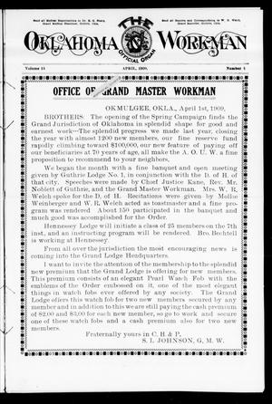Primary view of object titled 'The Oklahoma Workman (Guthrie, Okla.), Vol. 14, No. 4, Ed. 2 Thursday, April 1, 1909'.
