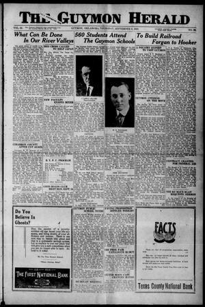 Primary view of The Guymon Herald (Guymon, Okla.), Vol. 33, No. 28, Ed. 1 Thursday, September 6, 1923