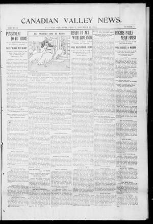 Primary view of object titled 'Canadian Valley News. (Canadian, Oklahoma), Vol. 2, No. 1, Ed. 1 Friday, November 17, 1911'.
