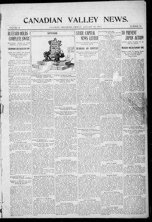 Primary view of object titled 'Canadian Valley News. (Canadian, Oklahoma), Vol. 2, No. 10, Ed. 1 Friday, January 19, 1912'.