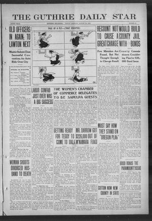 Primary view of object titled 'The Guthrie Daily Star (Guthrie, Okla.), Vol. 9, No. 141, Ed. 1 Friday, August 23, 1912'.