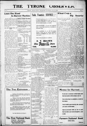 Primary view of object titled 'The Tyrone Observer (Tyrone, Okla.), Vol. 19, No. 6, Ed. 1 Thursday, July 13, 1922'.