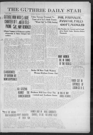 Primary view of object titled 'The Guthrie Daily Star (Guthrie, Okla.), Vol. 9, No. 72, Ed. 1 Sunday, June 2, 1912'.