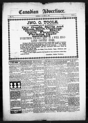 Primary view of object titled 'Canadian Advertiser. (Canadian, Indian Terr.), Vol. 6, No. 42, Ed. 1 Friday, June 15, 1900'.