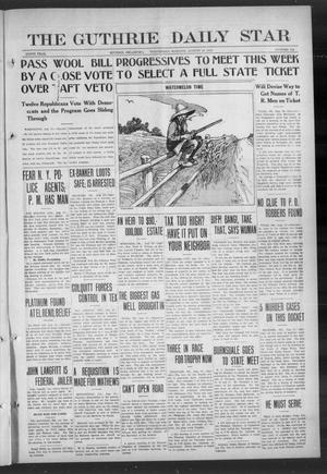 Primary view of object titled 'The Guthrie Daily Star (Guthrie, Okla.), Vol. 9, No. 134, Ed. 1 Wednesday, August 14, 1912'.