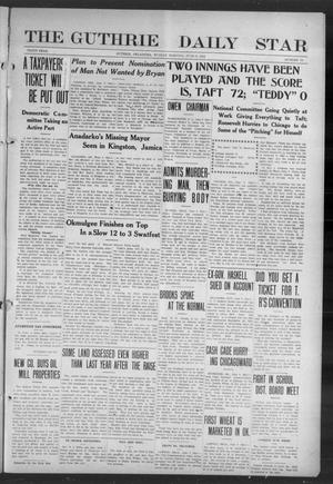 Primary view of object titled 'The Guthrie Daily Star (Guthrie, Okla.), Vol. 9, No. 78, Ed. 1 Sunday, June 9, 1912'.