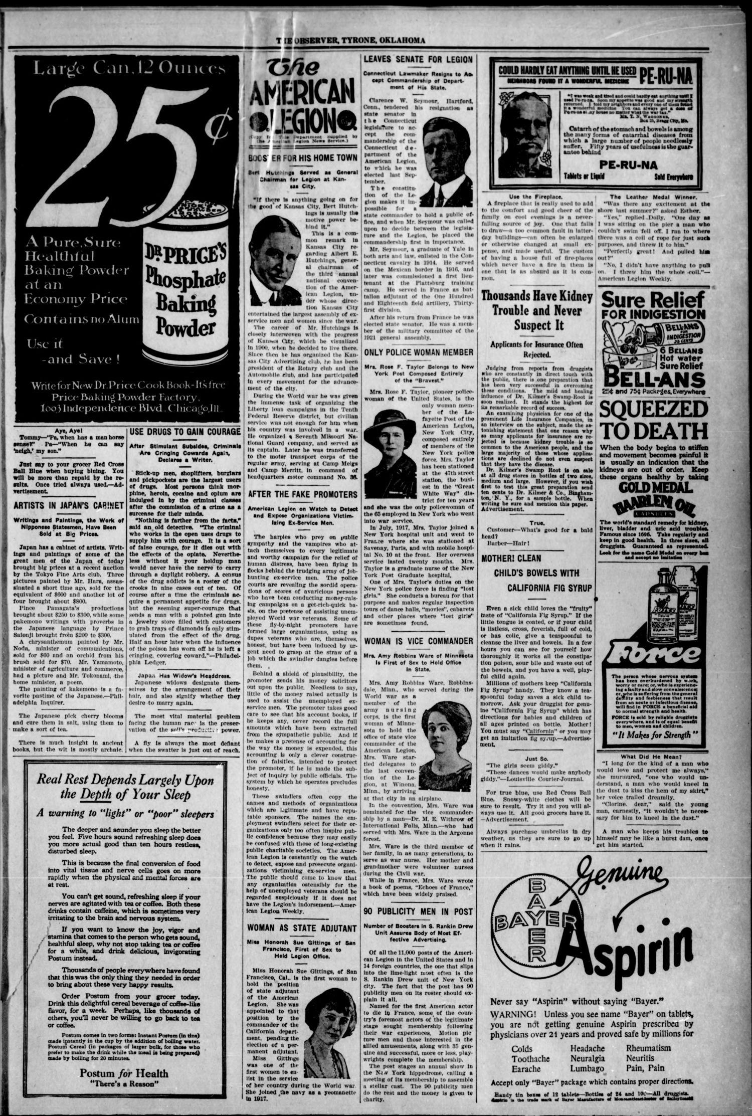 The Tyrone Observer  (Tyrone, Okla ), Vol  18, No  31, Ed  1