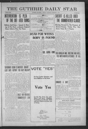 Primary view of object titled 'The Guthrie Daily Star (Guthrie, Okla.), Vol. 9, No. 206, Ed. 1 Tuesday, November 5, 1912'.