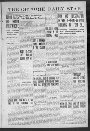 Primary view of object titled 'The Guthrie Daily Star (Guthrie, Okla.), Vol. 9, No. 16, Ed. 1 Friday, March 29, 1912'.