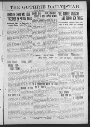Primary view of object titled 'The Guthrie Daily Star (Guthrie, Okla.), Vol. 9, No. 226, Ed. 1 Thursday, November 28, 1912'.