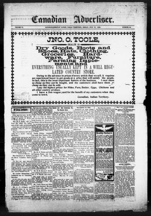 Primary view of object titled 'Canadian Advertiser. (Canadian, Indian Terr.), Vol. 6, No. 48, Ed. 1 Friday, July 27, 1900'.