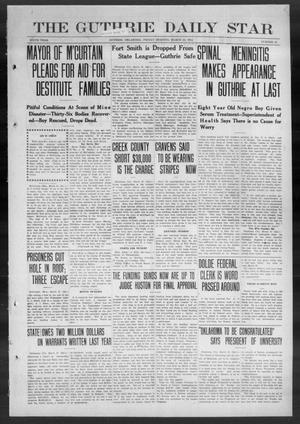 Primary view of object titled 'The Guthrie Daily Star (Guthrie, Okla.), Vol. 9, No. 10, Ed. 1 Friday, March 22, 1912'.
