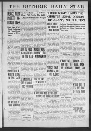 Primary view of object titled 'The Guthrie Daily Star (Guthrie, Okla.), Vol. 9, No. 6, Ed. 1 Sunday, March 17, 1912'.