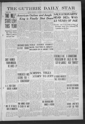 Primary view of object titled 'The Guthrie Daily Star (Guthrie, Okla.), Vol. 9, No. 139, Ed. 1 Wednesday, August 21, 1912'.