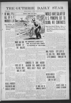 Primary view of object titled 'The Guthrie Daily Star (Guthrie, Okla.), Vol. 9, No. 133, Ed. 1 Tuesday, August 13, 1912'.