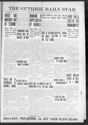 Primary view of object titled 'The Guthrie Daily Star (Guthrie, Okla.), Vol. 9, No. 24, Ed. 1 Sunday, April 7, 1912'.