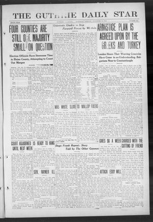 Primary view of object titled 'The Guthrie Daily Star (Guthrie, Okla.), Vol. 9, No. 216, Ed. 1 Saturday, November 16, 1912'.