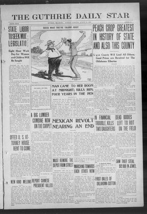 Primary view of object titled 'The Guthrie Daily Star (Guthrie, Okla.), Vol. 9, No. 139, Ed. 1 Tuesday, August 20, 1912'.