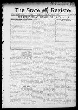 Primary view of object titled 'The State Register. (Guthrie, Okla.), Vol. 11, No. 40, Ed. 1 Thursday, September 18, 1902'.
