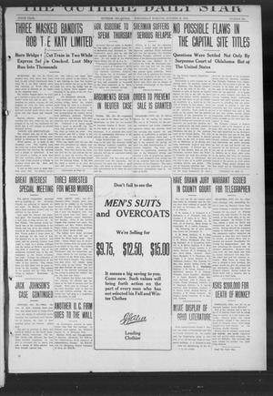 Primary view of object titled 'The Guthrie Daily Star (Guthrie, Okla.), Vol. 9, No. 201, Ed. 1 Wednesday, October 30, 1912'.