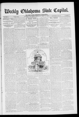 Primary view of object titled 'Weekly Oklahoma State Capital. (Guthrie, Okla.), Vol. 9, No. 4, Ed. 2 Saturday, April 24, 1897'.