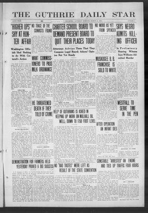 Primary view of object titled 'The Guthrie Daily Star (Guthrie, Okla.), Vol. 9, No. 5, Ed. 1 Saturday, March 16, 1912'.