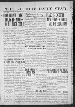 Primary view of object titled 'The Guthrie Daily Star (Guthrie, Okla.), Vol. 9, No. 219, Ed. 1 Wednesday, November 20, 1912'.