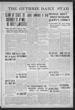 Primary view of object titled 'The Guthrie Daily Star (Guthrie, Okla.), Vol. 9, No. 125, Ed. 1 Saturday, August 3, 1912'.