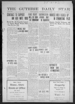 Primary view of object titled 'The Guthrie Daily Star (Guthrie, Okla.), Vol. 9, No. 227, Ed. 1 Sunday, December 1, 1912'.