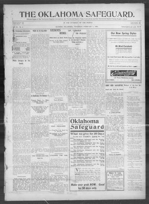 Primary view of object titled 'The Oklahoma Safeguard. (Guthrie, Okla.), Vol. 13, No. 1, Ed. 1 Thursday, February 1, 1906'.