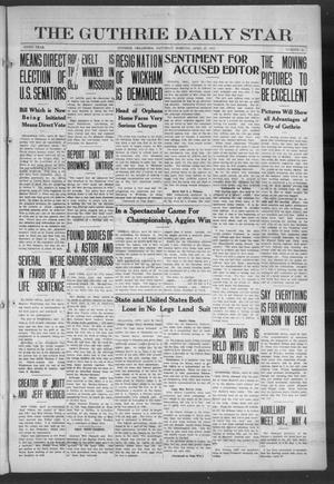 Primary view of object titled 'The Guthrie Daily Star (Guthrie, Okla.), Vol. 9, No. 41, Ed. 1 Saturday, April 27, 1912'.
