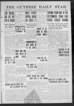 Primary view of object titled 'The Guthrie Daily Star (Guthrie, Okla.), Vol. 9, No. 17, Ed. 1 Saturday, March 30, 1912'.