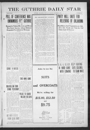 Primary view of object titled 'The Guthrie Daily Star (Guthrie, Okla.), Vol. 9, No. 192, Ed. 1 Saturday, October 19, 1912'.